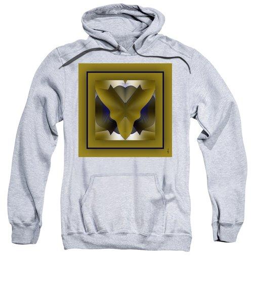 Sweatshirt featuring the digital art The Butterfly by Mihaela Stancu