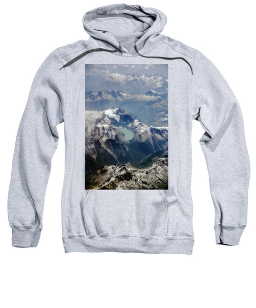 Sweatshirt featuring the photograph The Canadian Rockies by Ross G Strachan
