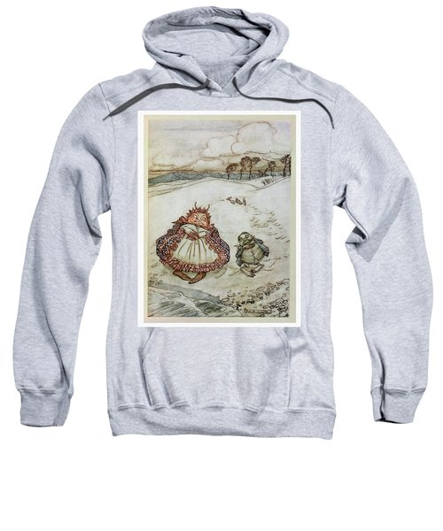 The Crab And His Mother, Illustration From Aesops Fables, Published By Heinemann, 1912 Colour Litho Sweatshirt