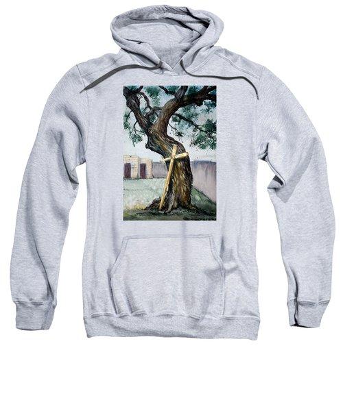 Da216 The Cross And The Tree By Daniel Adams Sweatshirt