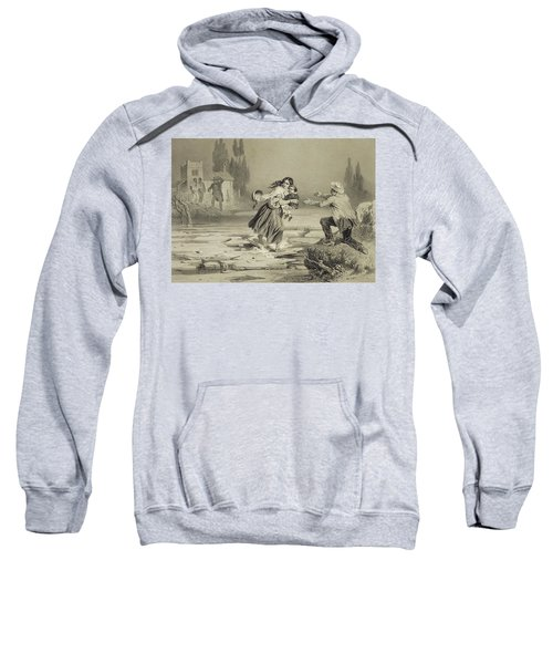The Flight Of Eliza, Plate 3 From Uncle Sweatshirt