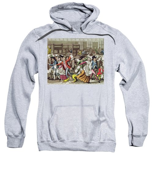 The Freedom Of The Press, 1797 Coloured Engraving Sweatshirt