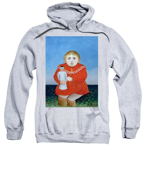 The Girl With A Doll, C.1892 Or C.1904-05 Oil On Canvas Sweatshirt