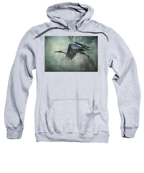 The Great Blue Heron  Sweatshirt