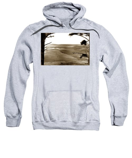 The Lagoon At The Mouth Of The Carmel River  From Fish Ranch California 1905 Sweatshirt