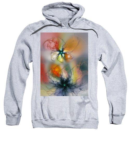 The Lightness Of Being-abstract Art Sweatshirt