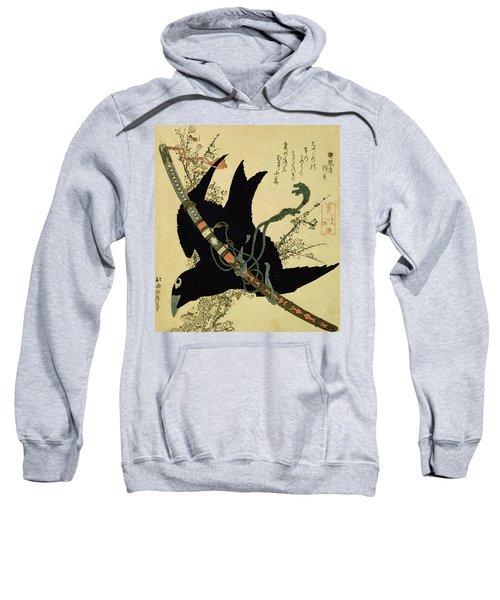 The Little Raven With The Minamoto Clan Sword Sweatshirt