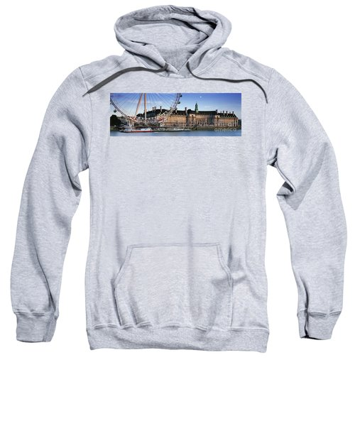The London Eye And County Hall Sweatshirt by Rod McLean