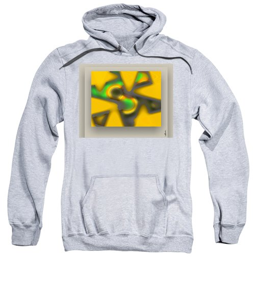 Sweatshirt featuring the digital art The New Game - Gray by Mihaela Stancu