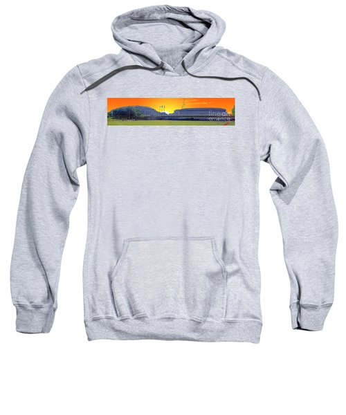 The Old And New Yankee Stadiums Side By Side At Sunset Sweatshirt by Nishanth Gopinathan