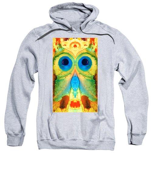 The Owl - Abstract Bird Art By Sharon Cummings Sweatshirt