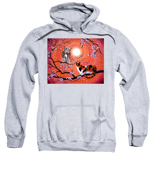 The Owl And The Pussycat In Peach Blossoms Sweatshirt