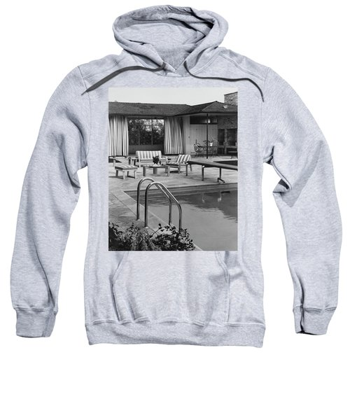 The Pool And Pavilion Of A House Sweatshirt