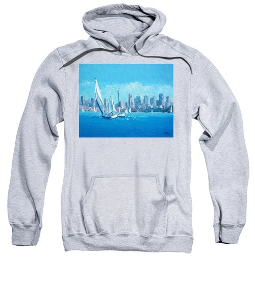 The Regatta Sydney Habour By Jan Matson Sweatshirt