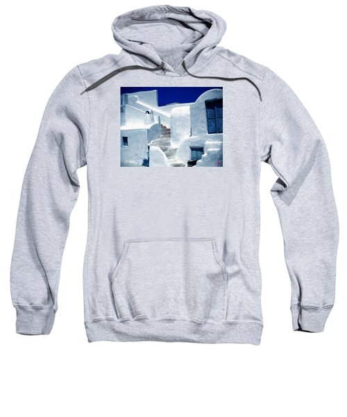 Thirasia Island Ancient House Near Santorini Greece Sweatshirt