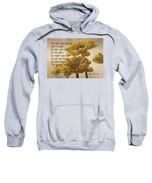 Thoughts Of Gratitude Sweatshirt by Peggy Hughes