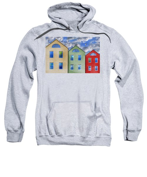 Three Buildings And A Bird Sweatshirt