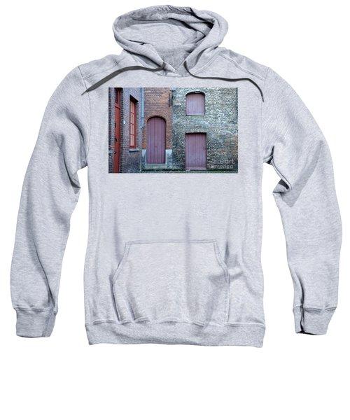 Three Doors And Two Windows Bruges, Belgium Sweatshirt