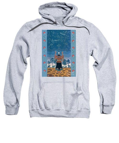 Sweatshirt featuring the painting Thunder Girl II by Chholing Taha