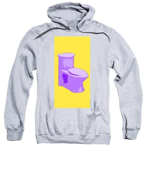 Toilette In Purple Sweatshirt