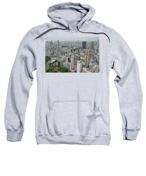 Tokyo Intersection Skyline View From Tokyo Tower Sweatshirt by Jeff at JSJ Photography