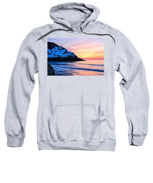Touch Of Snow Singing Beach Sweatshirt