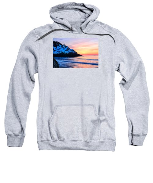 Touch Of Snow Singing Beach Sweatshirt