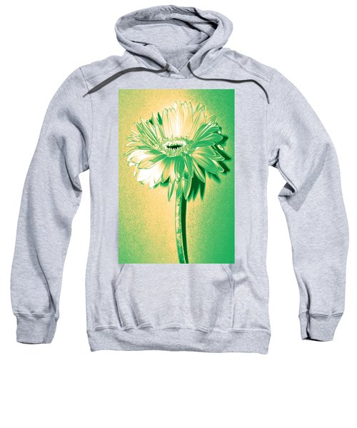 Touch Of Turquoise Zinnia Sweatshirt by Sherry Allen