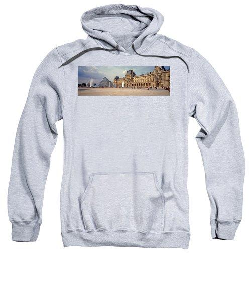 Tourists Near A Pyramid, Louvre Sweatshirt