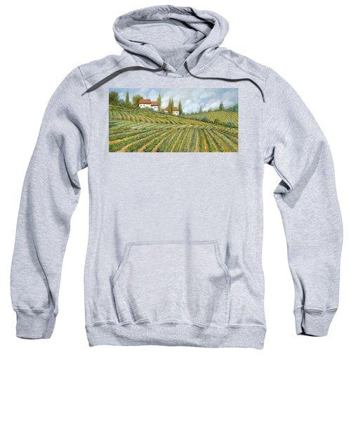 Tre Case Bianche Nella Vigna Sweatshirt