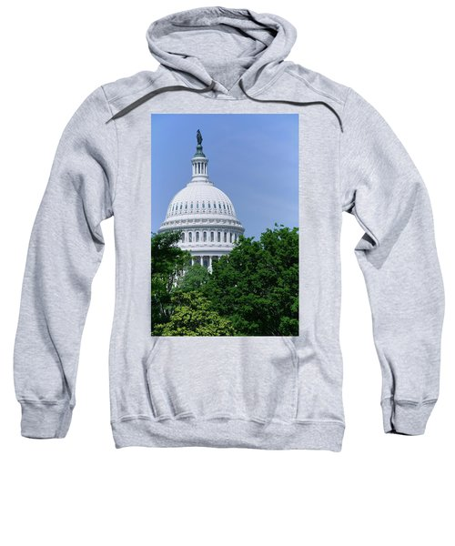 Trees In Spring And U.s. Capitol Dome Sweatshirt