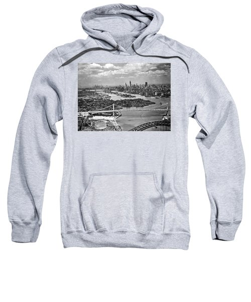 Triborough Bridge Is Completed Sweatshirt by Underwood Archives
