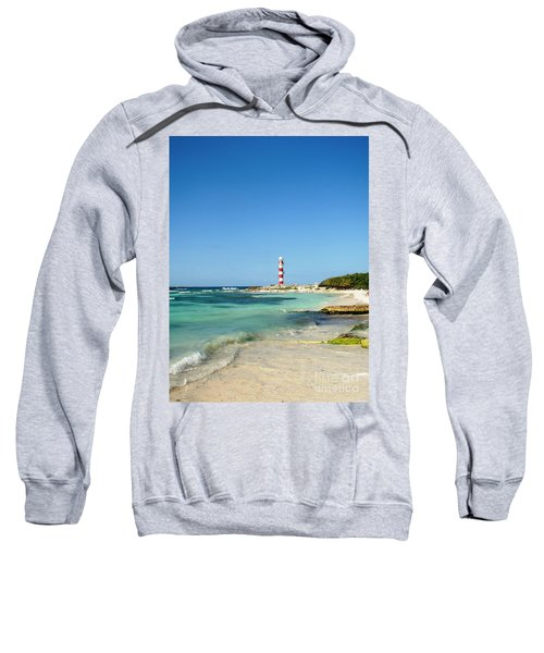 Tropical Seascape With Lighthouse Sweatshirt