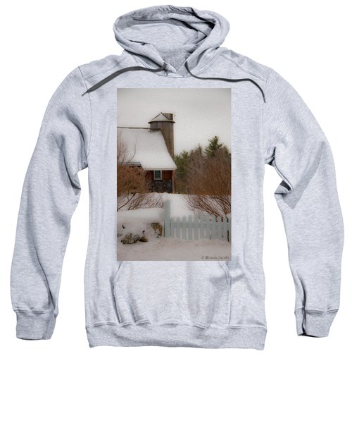 Tuftonboro Farm In Snow Sweatshirt
