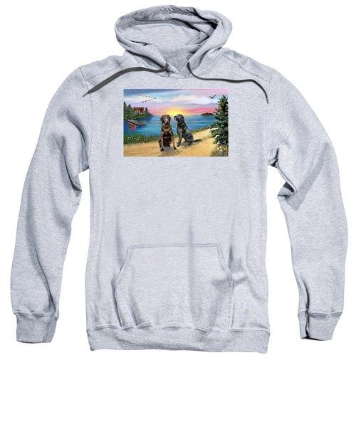 Two Labs At The Lake Sweatshirt