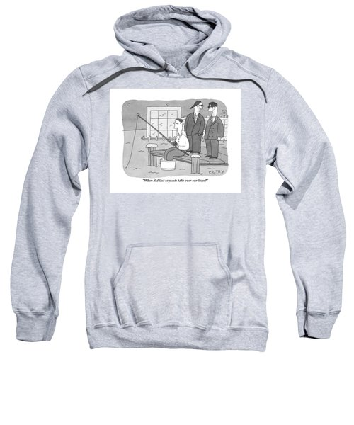 Two Men From The Mafia Stand Over A Dock Sweatshirt