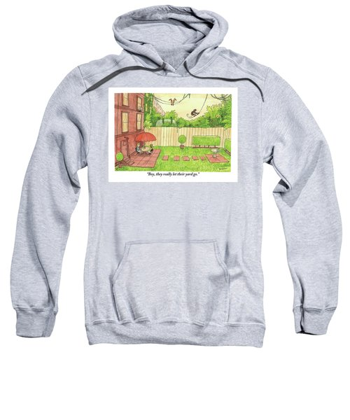Two People Sitting On Their Back Patio Sweatshirt