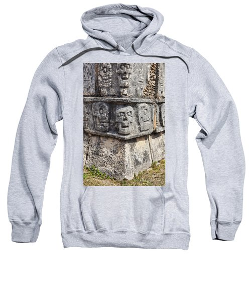 Tzompantli Or Platform Of The Skulls At Chichen Itza Sweatshirt