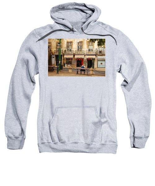 Lisbon Street Scene Sweatshirt