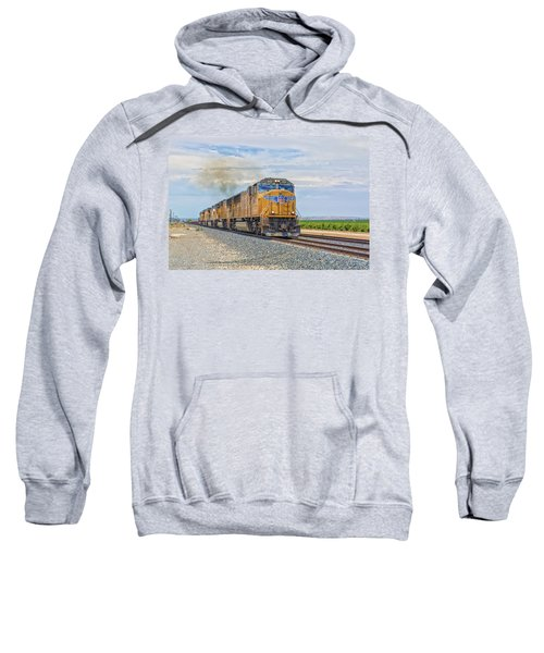 Sweatshirt featuring the photograph Up4421 by Jim Thompson