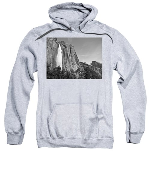 Upper Yosemite Fall With Half Dome Sweatshirt
