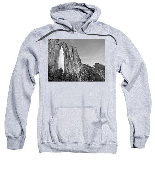 Upper Yosemite Fall With Half Dome Sweatshirt