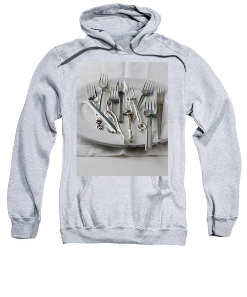 Various Forks On A Plate Sweatshirt
