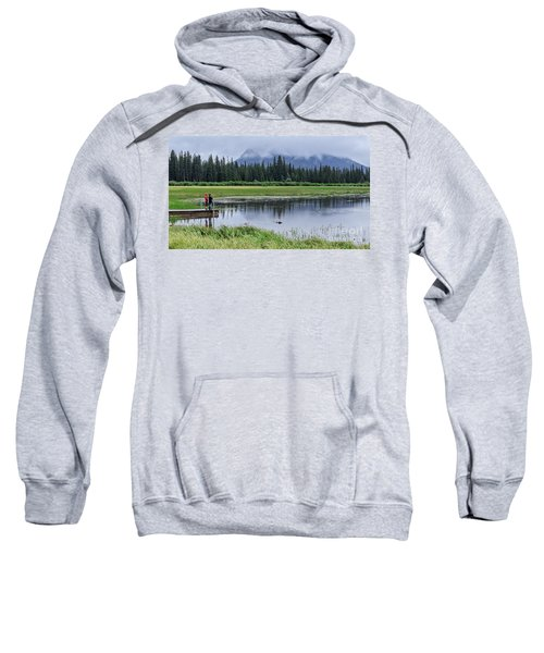Vermillion Lakes Banff National Park Canadian Rockies Sweatshirt