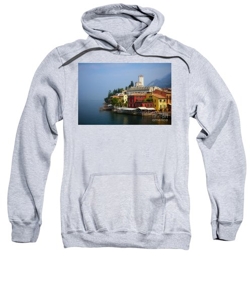 Village Near The Water With Alps In The Background  Sweatshirt
