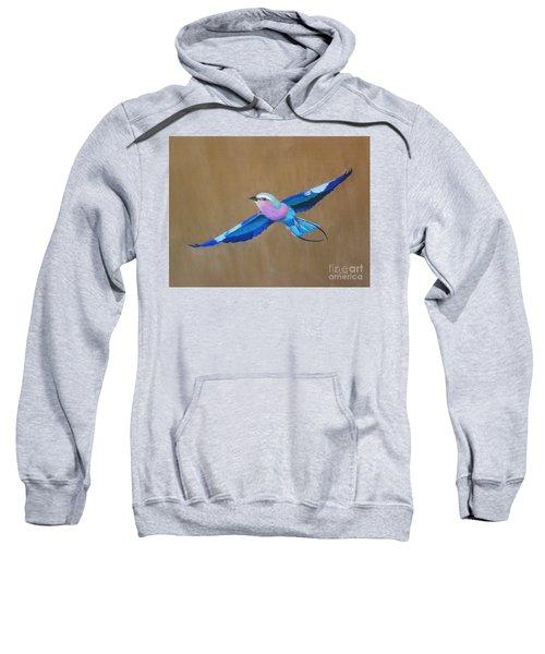 Violet-breasted Roller Bird II Sweatshirt