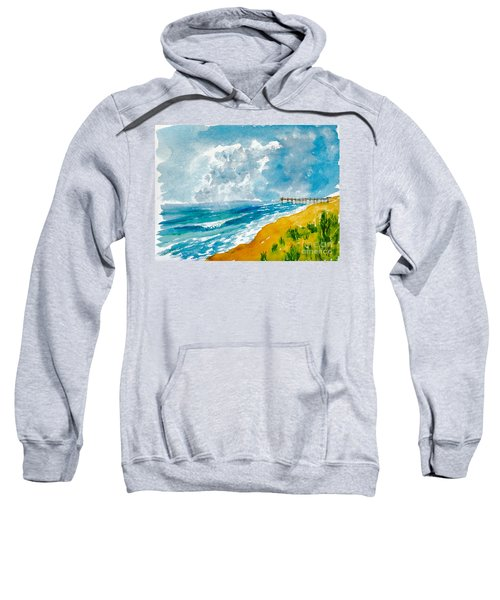 Virginia Beach With Pier Sweatshirt