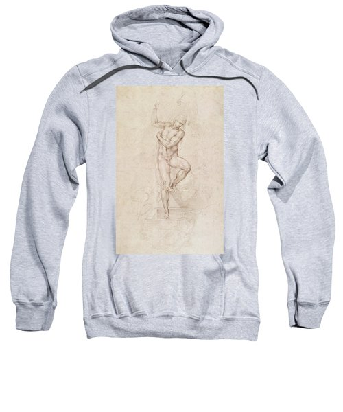W53r The Risen Christ Study For The Fresco Of The Last Judgement In The Sistine Chapel Vatican Sweatshirt