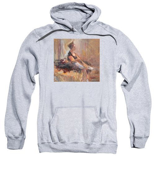 Waiting For Her Moment - Impressionist Oil Painting Sweatshirt