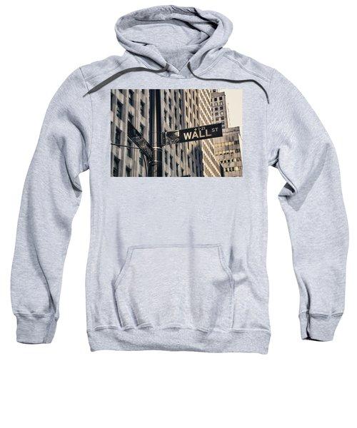 Wall Street Sign Sweatshirt